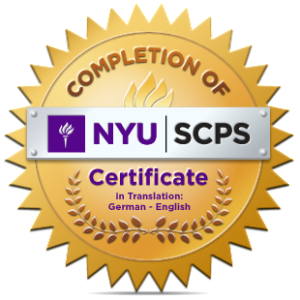 NYU Completion Badge